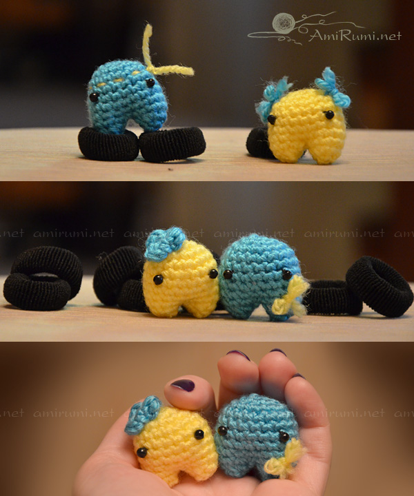 Crocheted amigurumi toys Maidan activists
