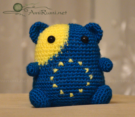 Crocheted amigurumi toy euro-humster!