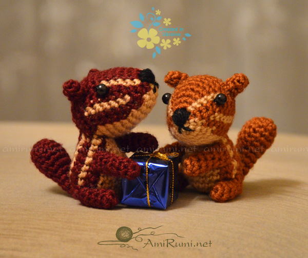 Crocheted amigurumi toys Gift for chipmunks